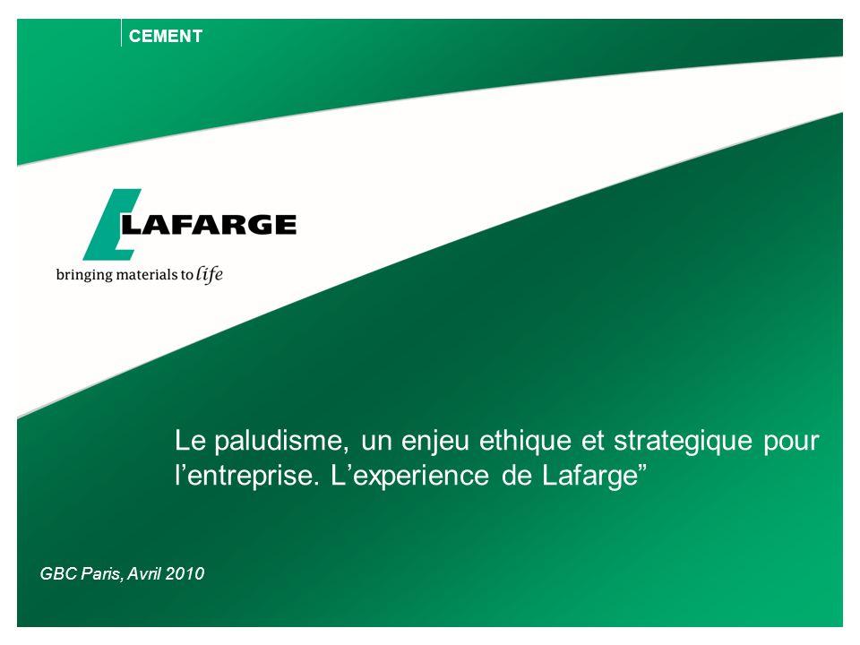 CEMENT Le paludisme, un enjeu ethique et strategique pour l'entreprise.