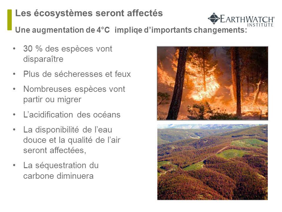 Les écosystèmes seront affectés