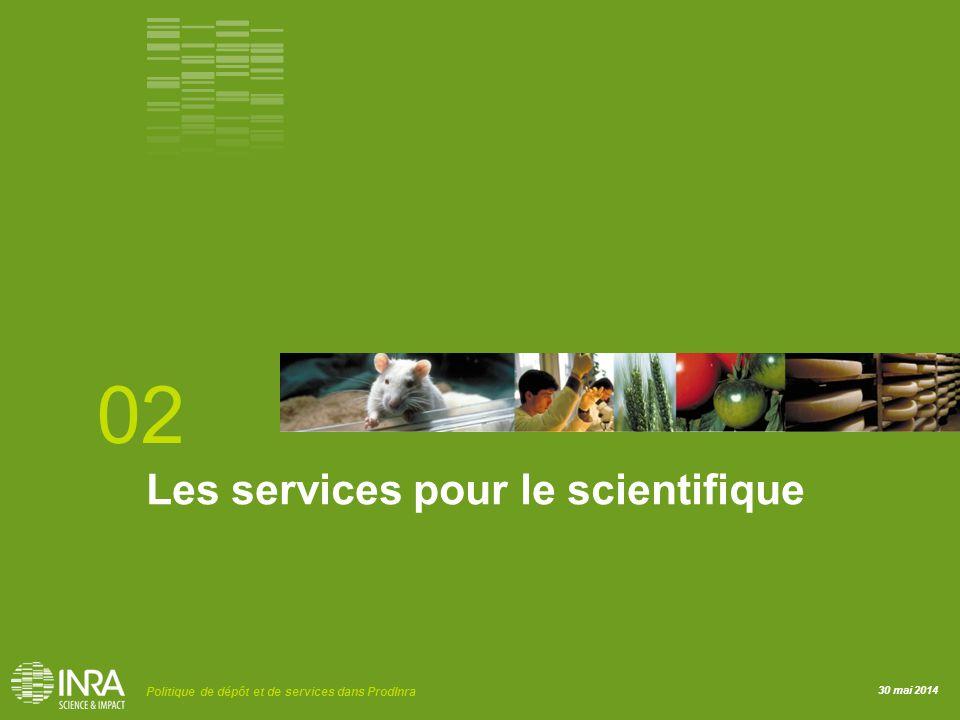 02 Les services pour le scientifique