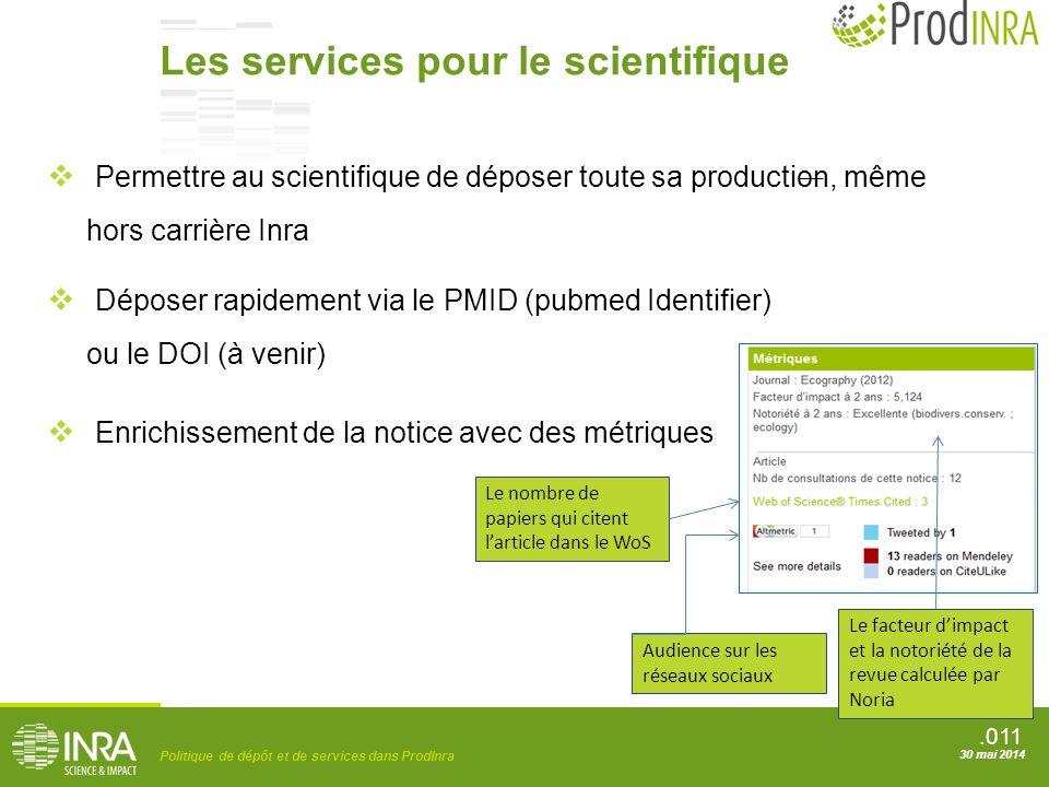 Les services pour le scientifique