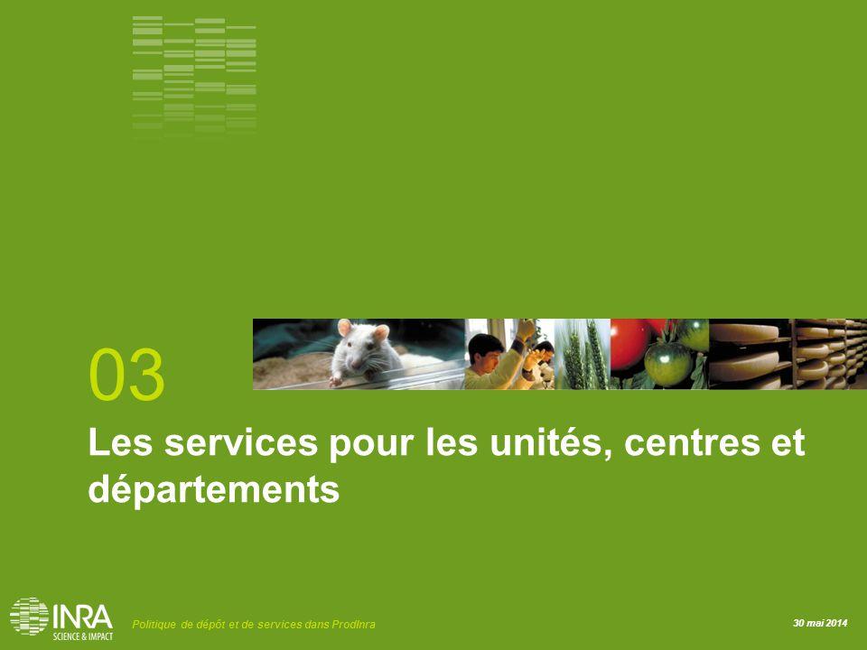 03 Les services pour les unités, centres et départements