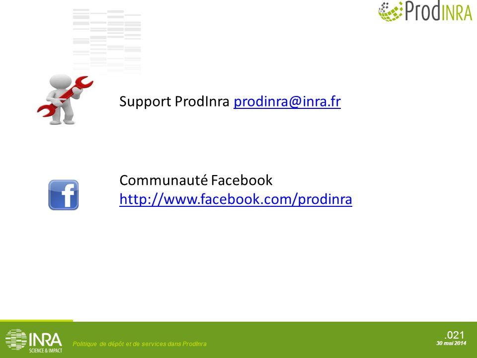 Support ProdInra prodinra@inra.fr