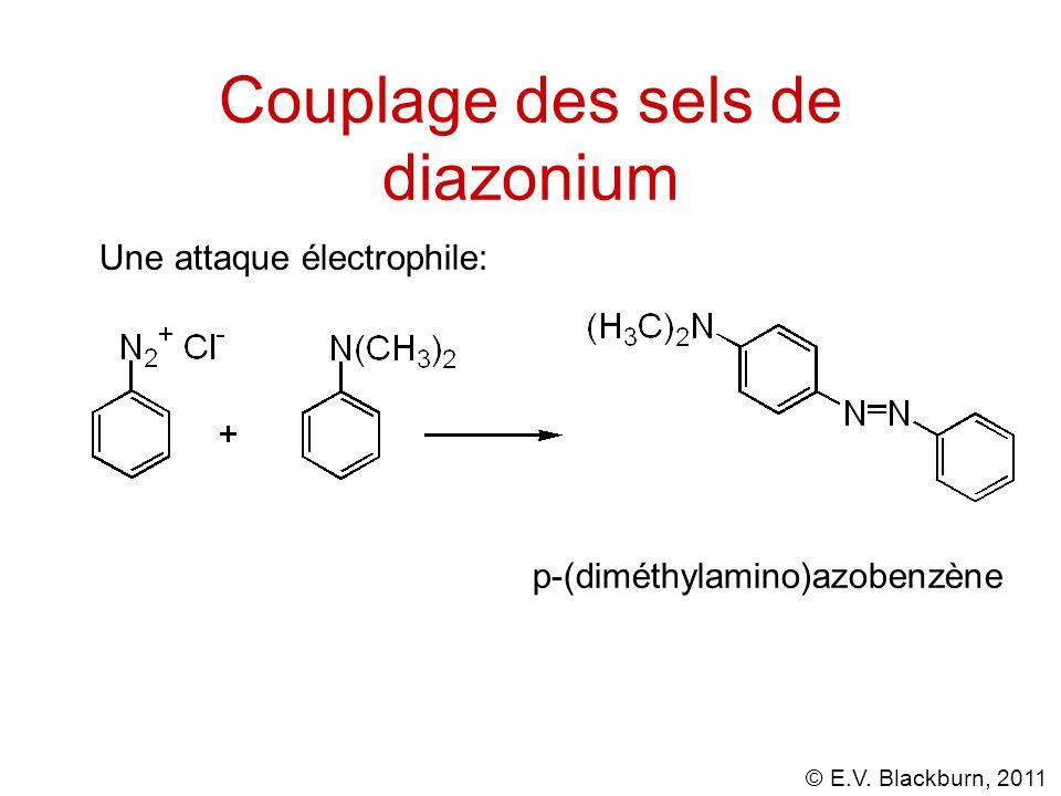 Couplage des sels de diazonium