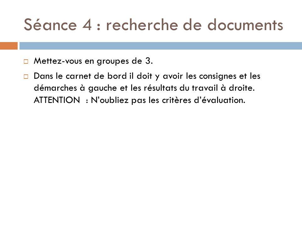 Séance 4 : recherche de documents