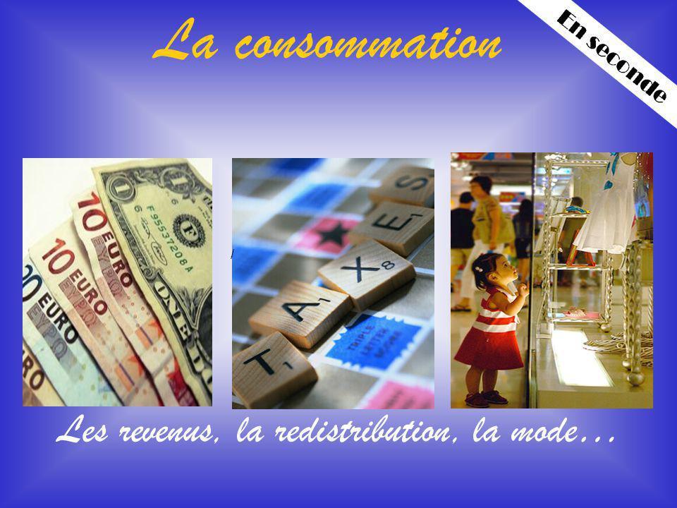 Les revenus, la redistribution, la mode…