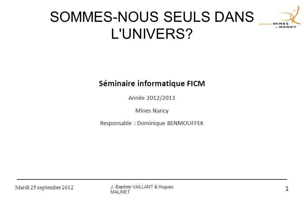 SOMMES-NOUS SEULS DANS L UNIVERS