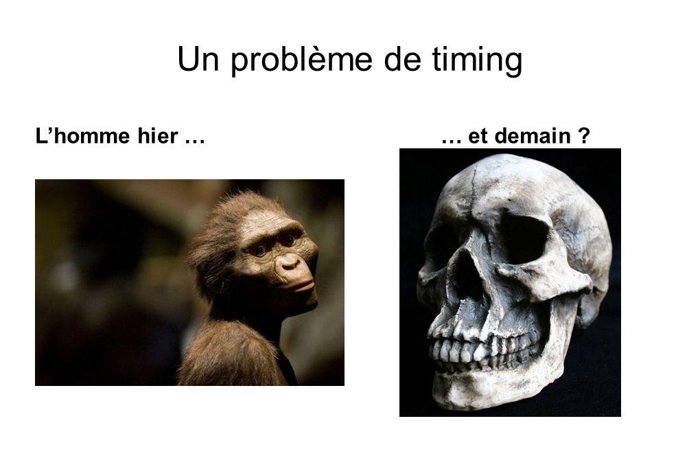 Un problème de timing L'homme hier … … et demain