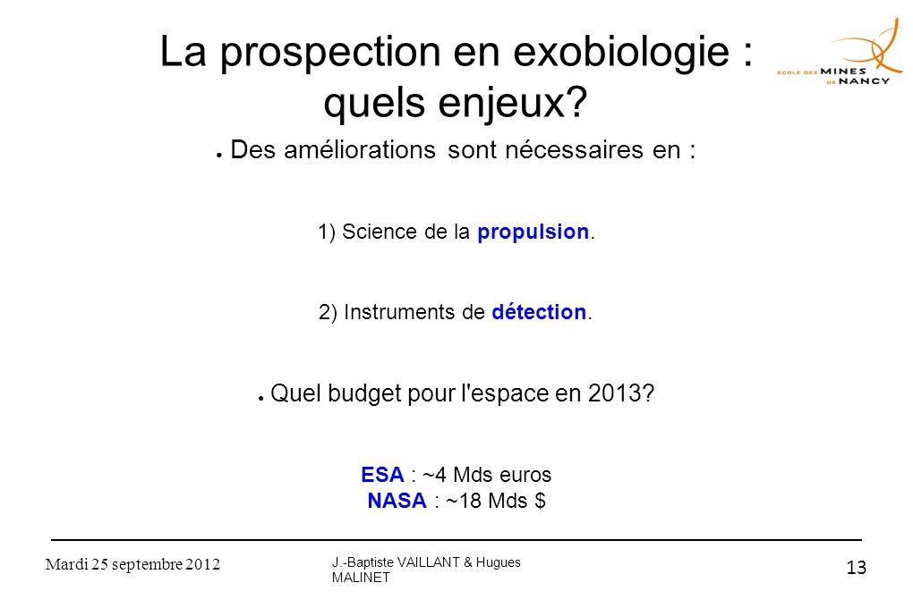 La prospection en exobiologie : quels enjeux