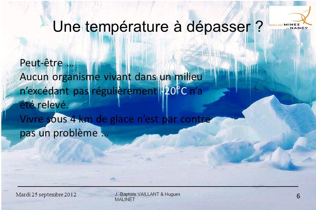 Une température à dépasser