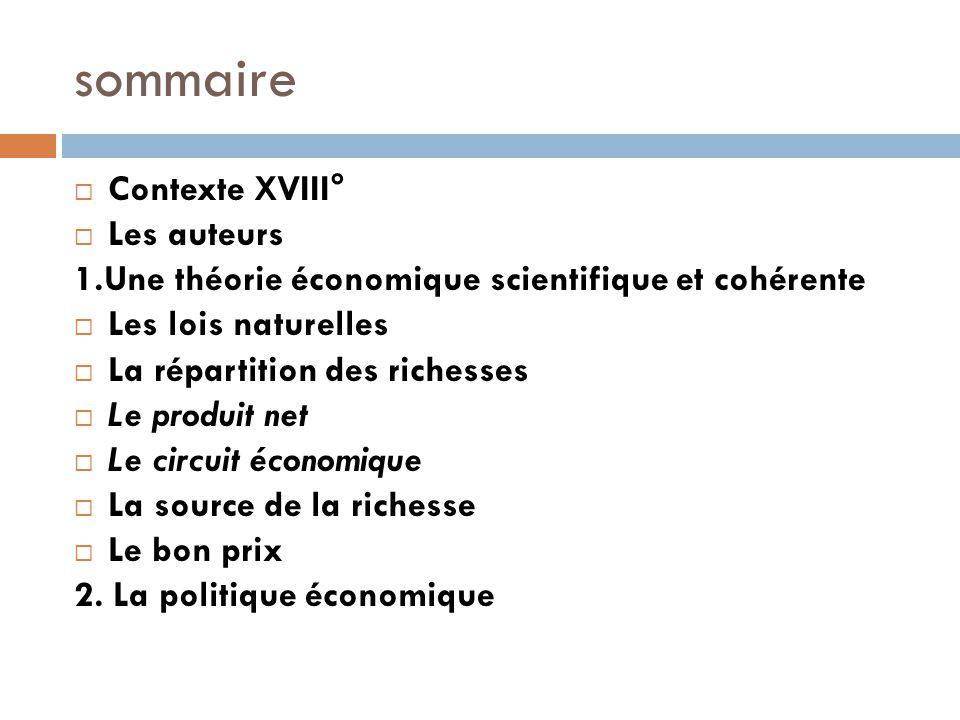 sommaire Contexte XVIII° Les auteurs