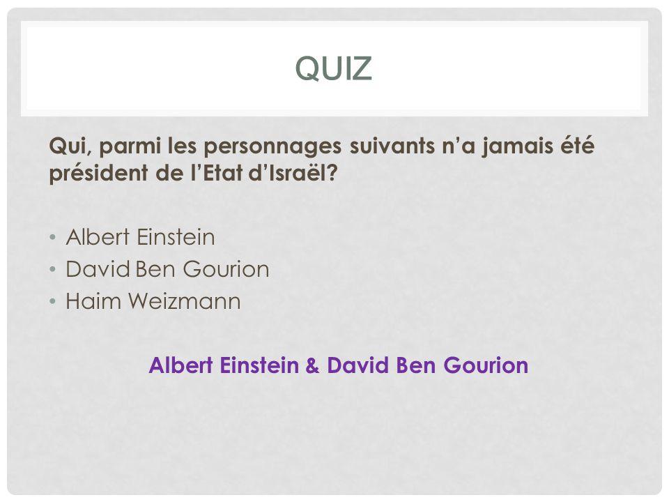 Albert Einstein & David Ben Gourion