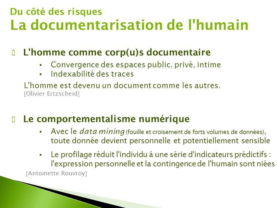 La documentarisation de l humain
