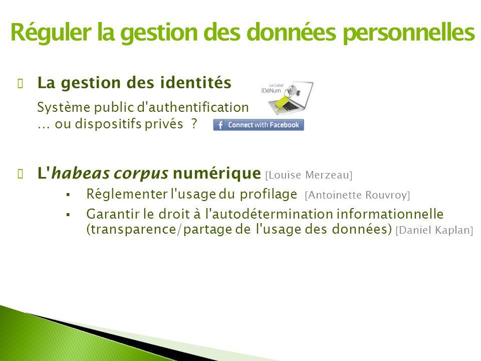 Réguler la gestion des données personnelles
