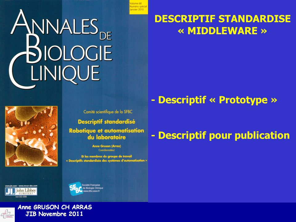 DESCRIPTIF STANDARDISE
