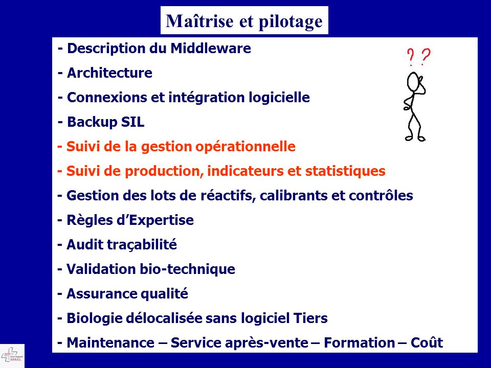 Maîtrise et pilotage - Description du Middleware - Architecture
