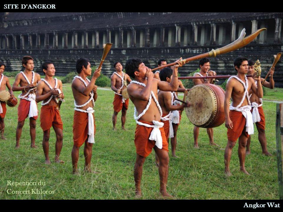 SITE D'ANGKOR Répétition du Concert Khloros Angkor Wat