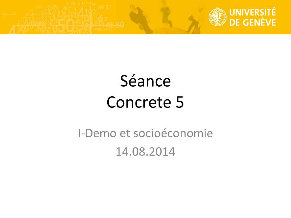 I-Demo et socioéconomie 14.08.2014