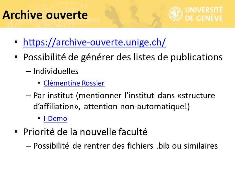 Archive ouverte https://archive-ouverte.unige.ch/