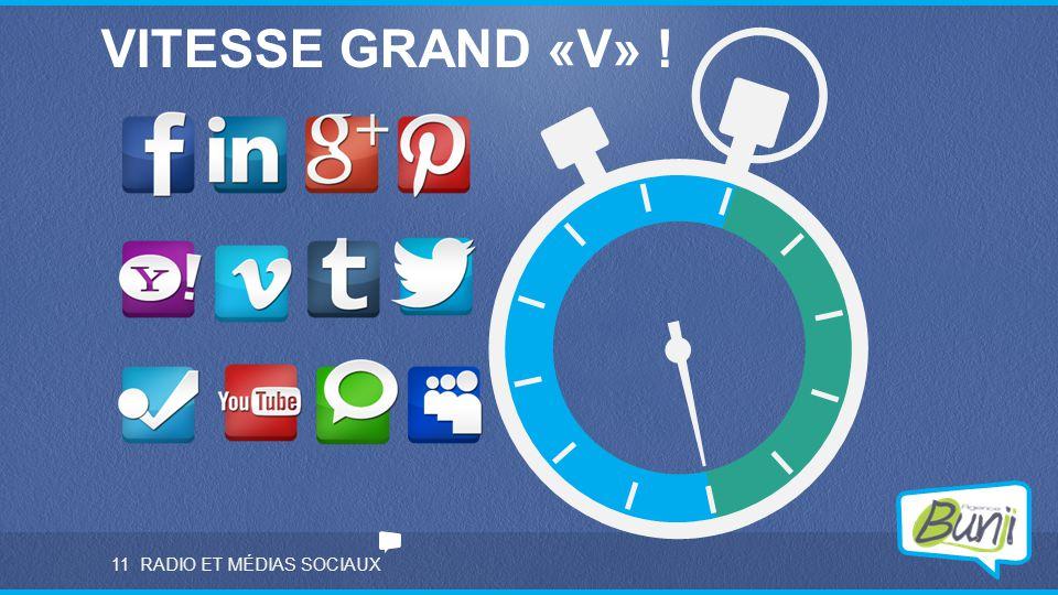 VITESSE GRAND «V» ! 11 RADIO ET MÉDIAS SOCIAUX