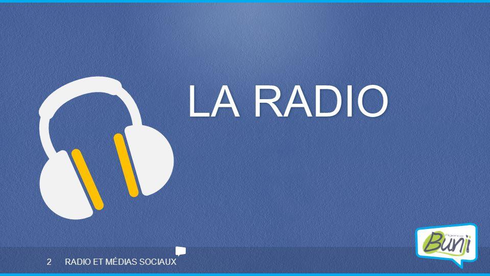 LA RADIO RADIO ET MÉDIAS SOCIAUX