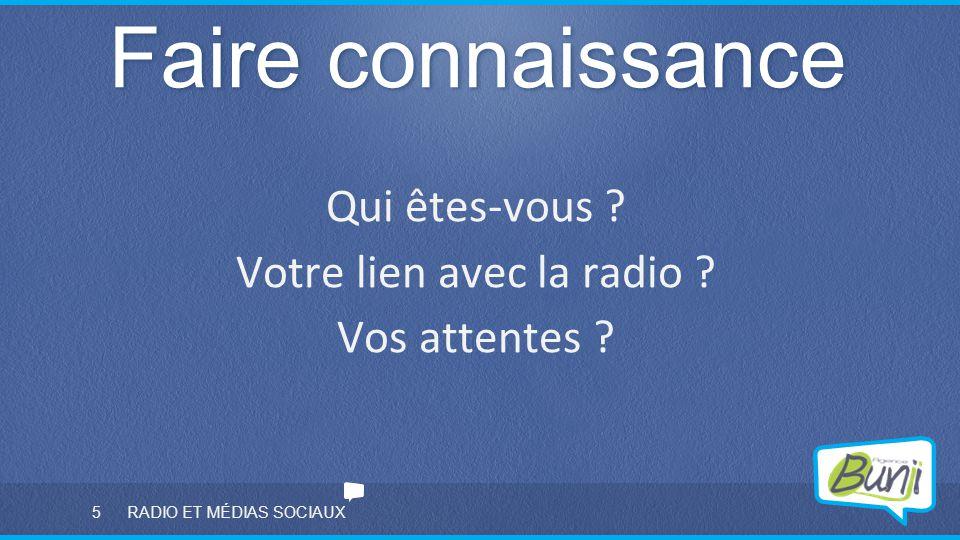 Votre lien avec la radio