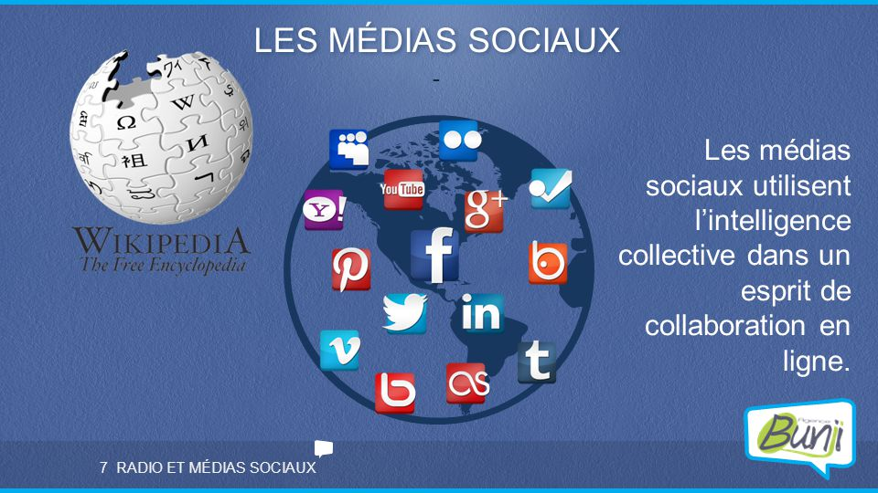 LES MÉDIAS SOCIAUX - Les médias sociaux utilisent l'intelligence collective dans un esprit de collaboration en ligne.