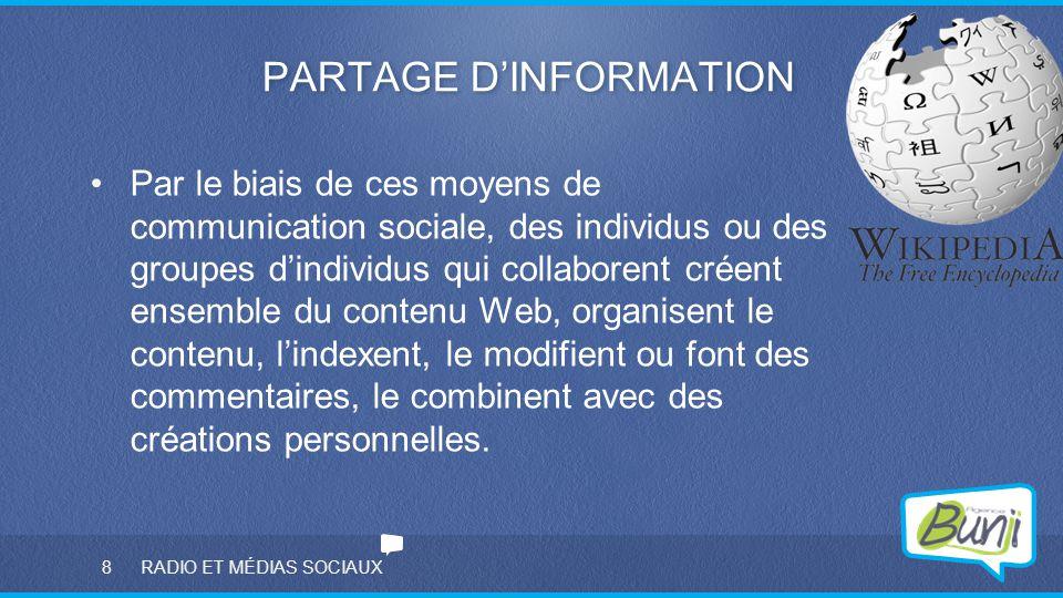 PARTAGE D'INFORMATION
