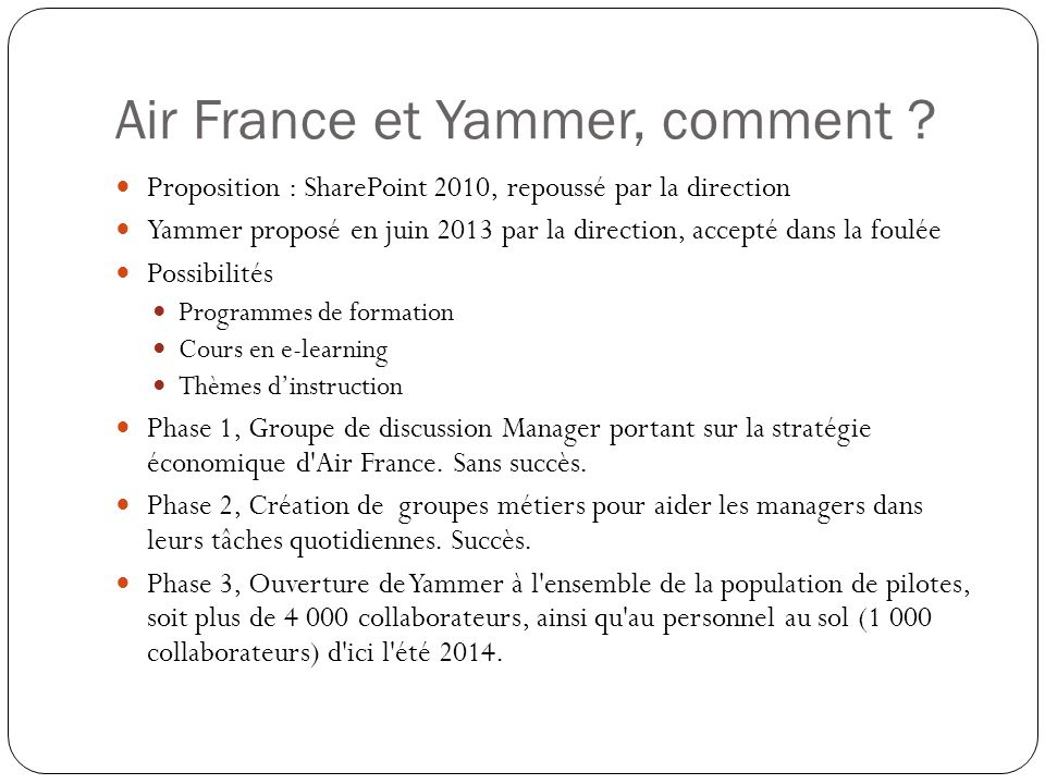 Air France et Yammer, comment