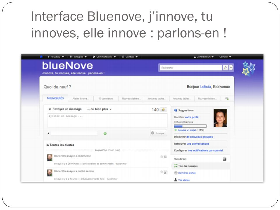 Interface Bluenove, j'innove, tu innoves, elle innove : parlons-en !