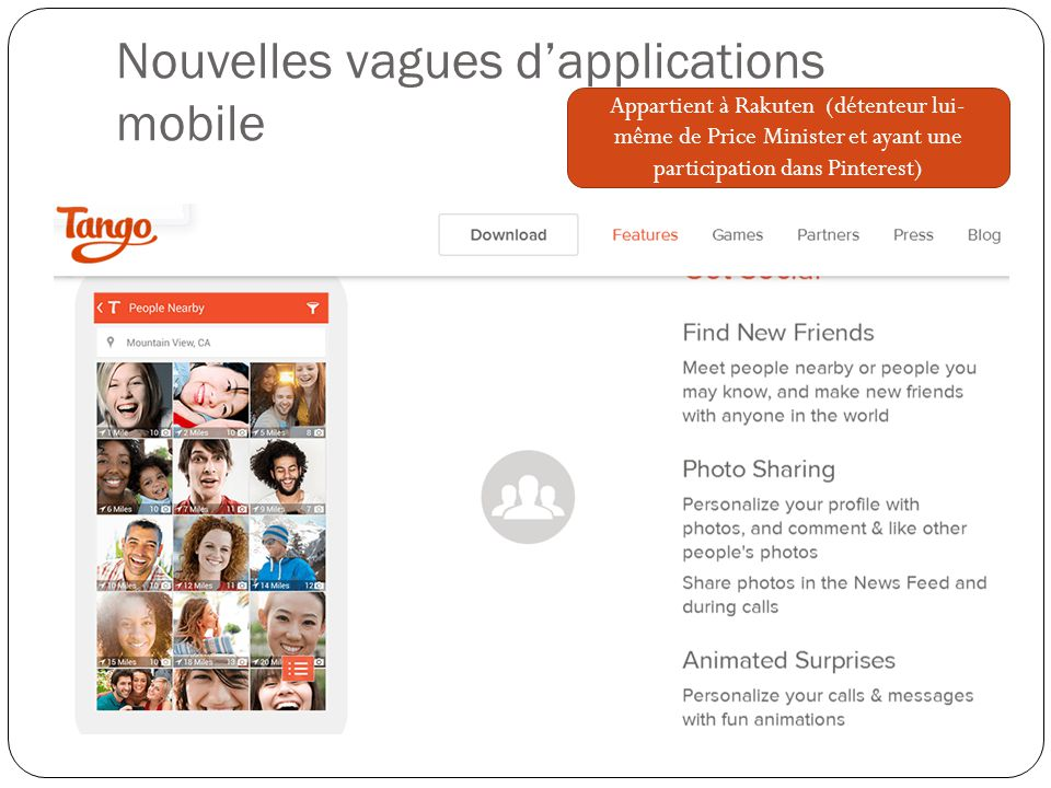 Nouvelles vagues d'applications mobile