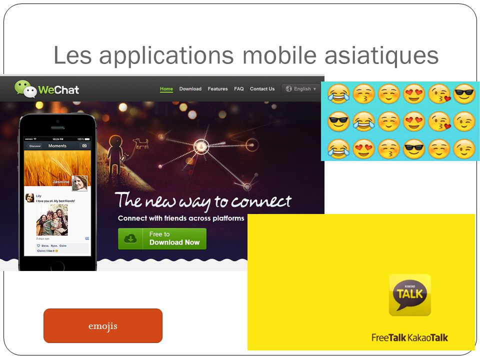 Les applications mobile asiatiques