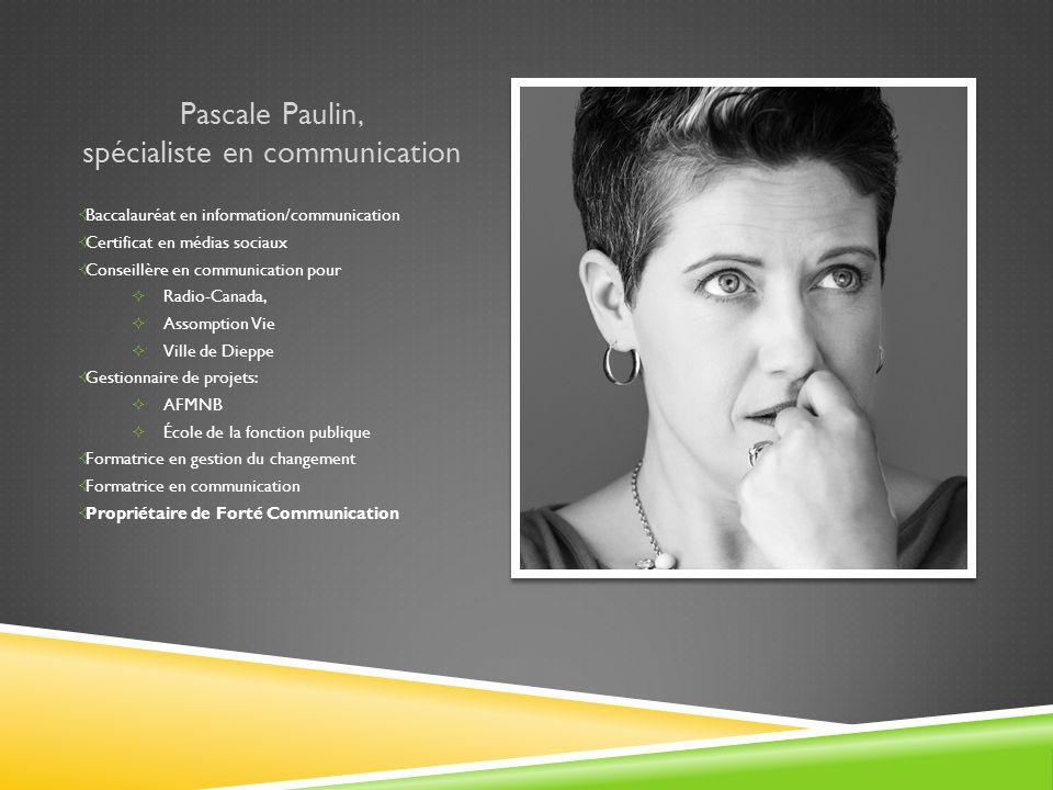 Pascale Paulin, spécialiste en communication