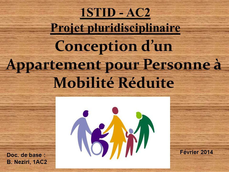 Projet pluridisciplinaire Appartement pour Personne à Mobilité Réduite