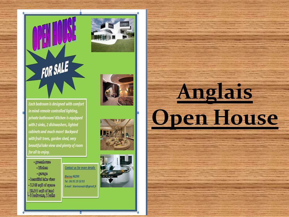 Anglais Open House