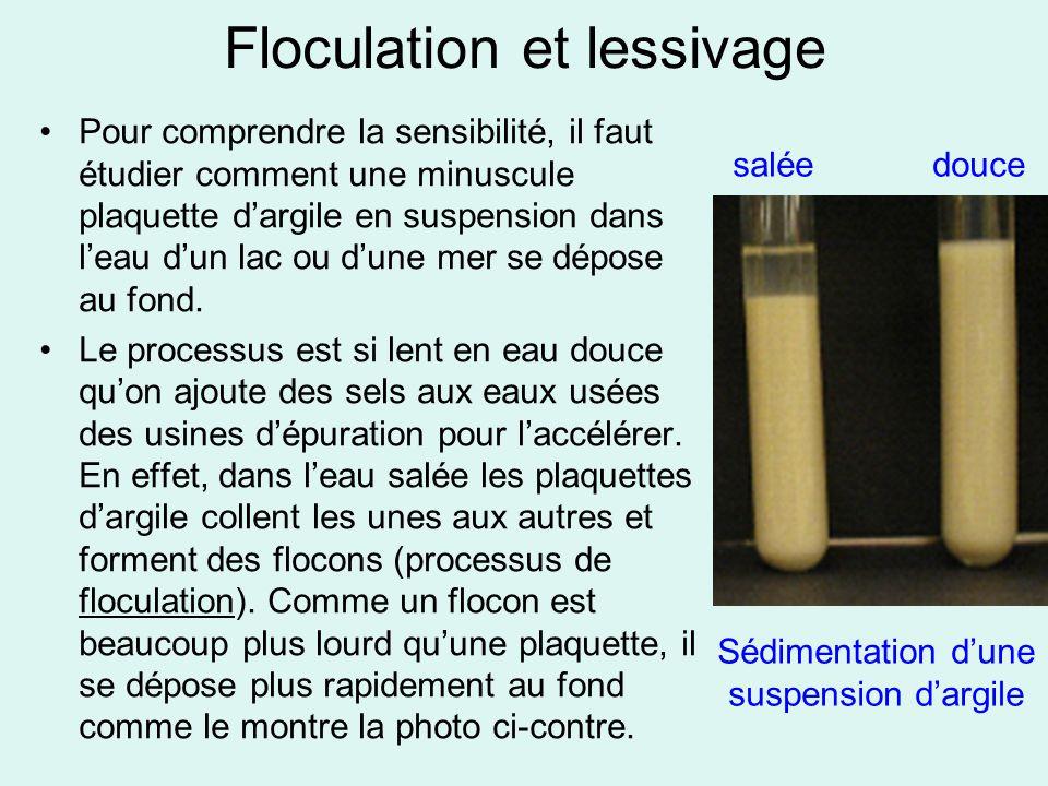 Floculation et lessivage