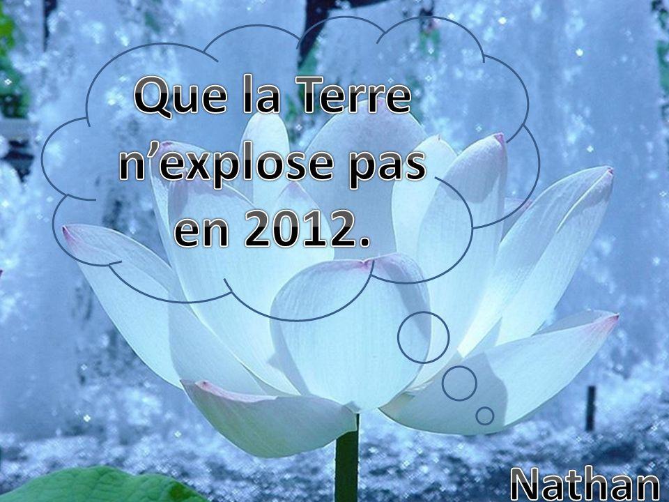 Que la Terre n'explose pas en 2012.