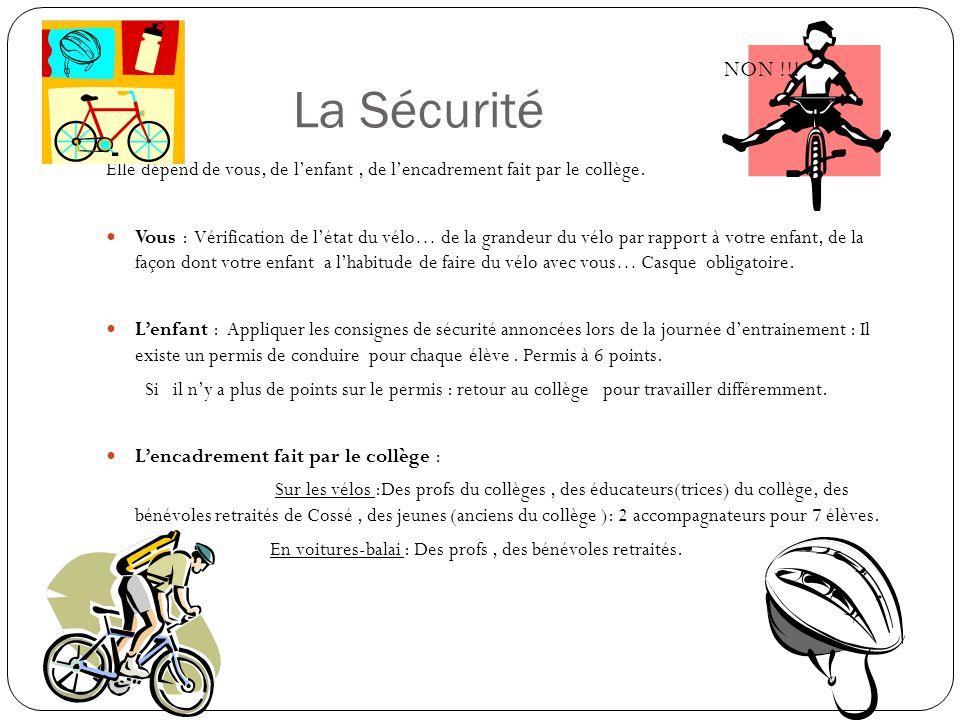 La Sécurité NON !!! Elle dépend de vous, de l'enfant , de l'encadrement fait par le collège.