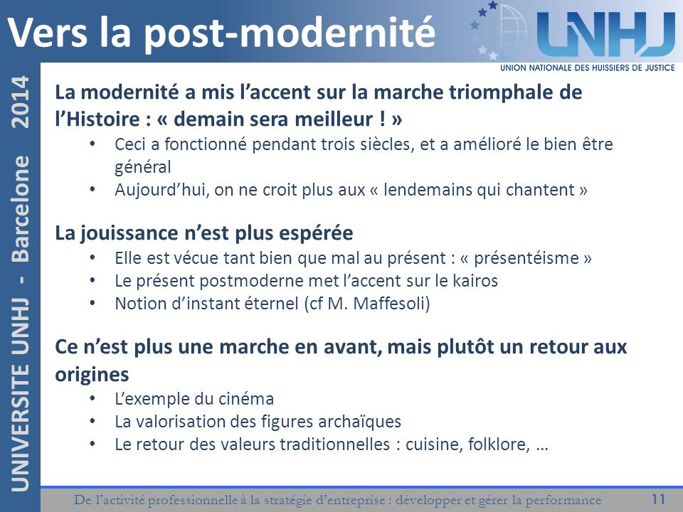 Vers la post-modernité