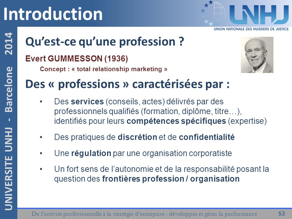 Introduction Qu'est-ce qu'une profession