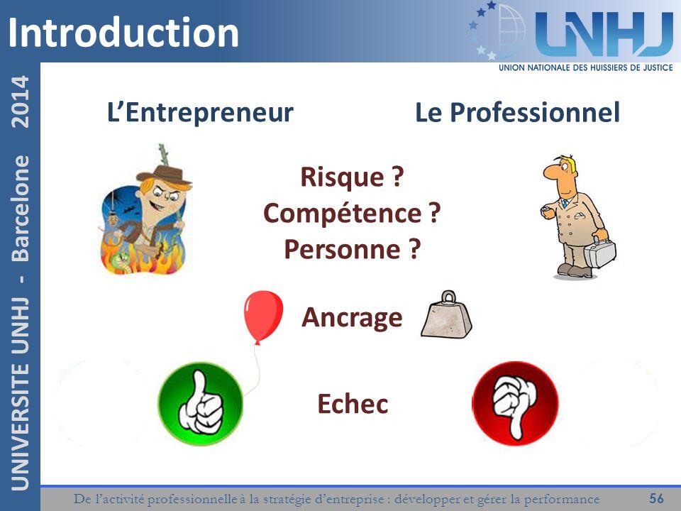 Introduction L'Entrepreneur Le Professionnel Risque Compétence