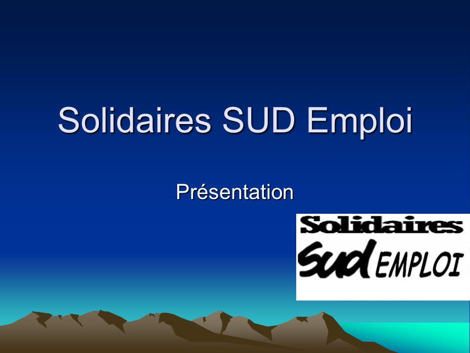 Solidaires SUD Emploi Présentation