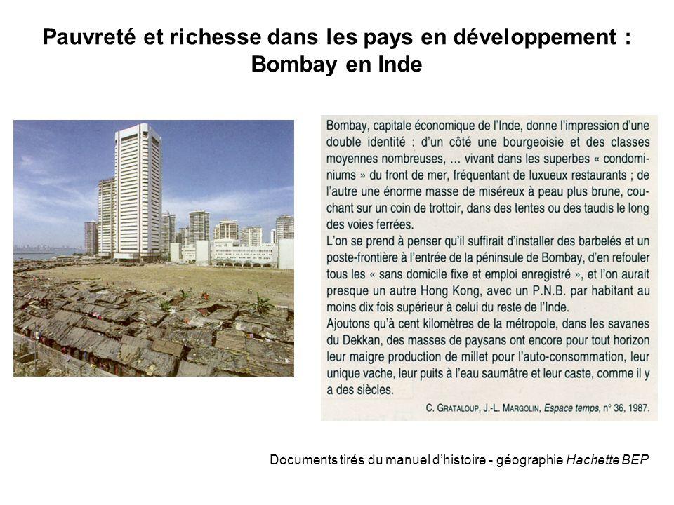 Pauvreté et richesse dans les pays en développement : Bombay en Inde