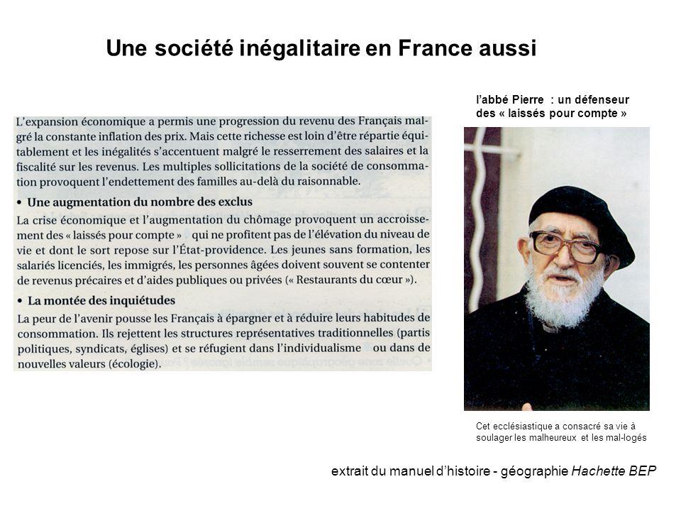 Une société inégalitaire en France aussi