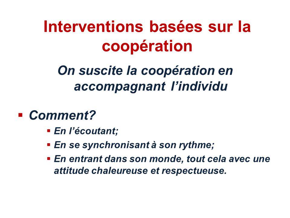Interventions basées sur la coopération
