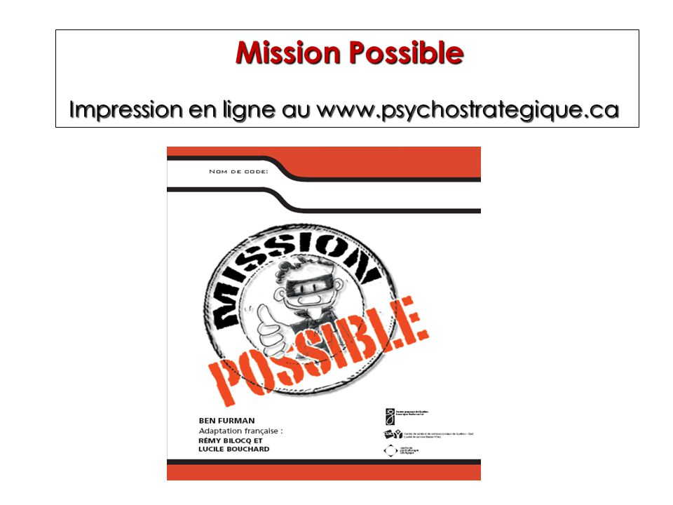 Impression en ligne au www.psychostrategique.ca