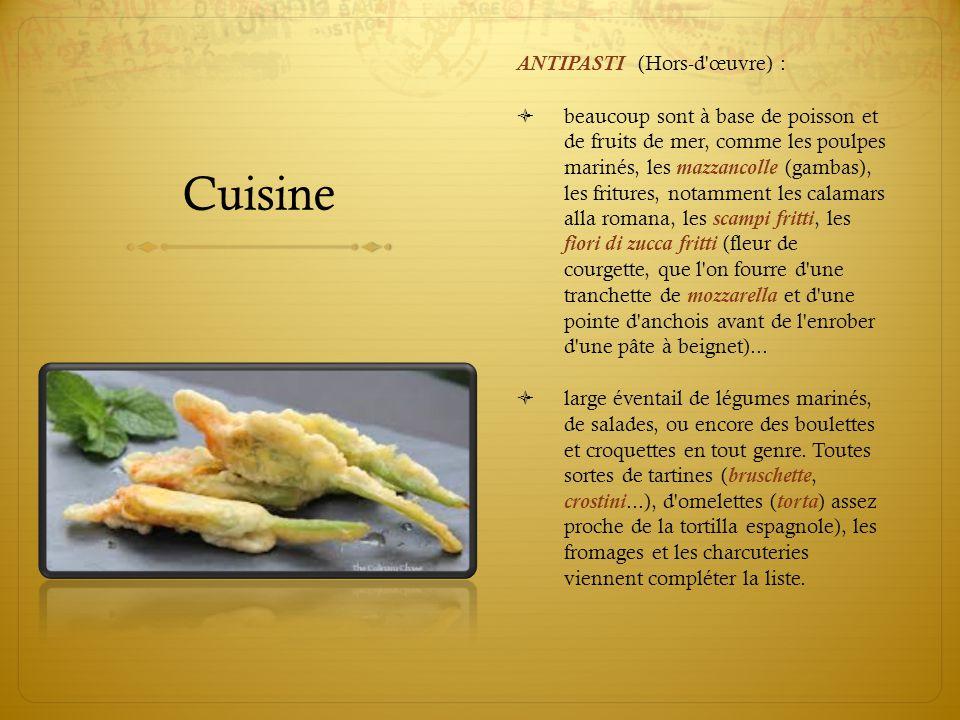 Cuisine ANTIPASTI (Hors-d œuvre) :