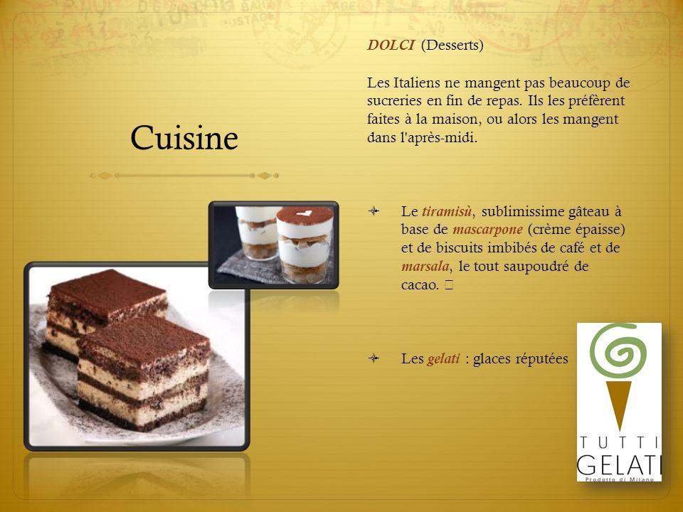 Cuisine DOLCI (Desserts)