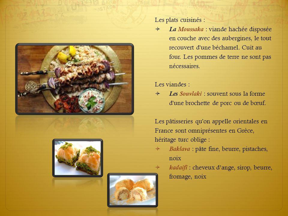 Intro Les plats cuisinés :