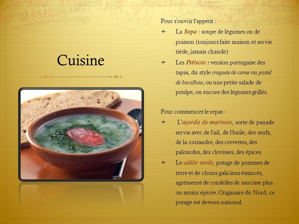 Cuisine Pour s ouvrir l appétit :