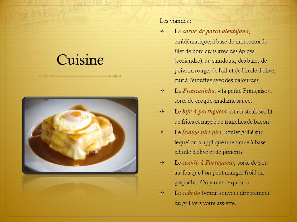 Cuisine Les viandes :